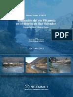 Evaluacion del Rio Vilcanota distrito San Salvador