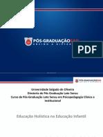 Slides Educação Infantil - Educação Holística