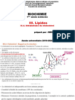 C. Biochimie III. Lipides (III.4. Métabolisme du cholestérol)