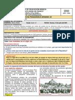 SEMANA 10 VIERNES 16 DE JULIO ESTUDIOS  SOCIALES SEXTO GRADO B 2021-2022