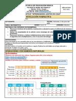 SEMANA 4 MIERCOLES 2 DE JUNIO EVALUACION DIAGNOSTICA DE MATEMATICA SEXTO GRADO 2021-2022
