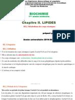 C. Biochimie III. Lipides (III.2. Métabolisme des corps cétoniques)