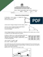 Exercicios - Trigonometria no triangulo retangulo