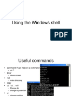 Using the window shell