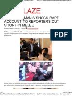 Libyan Woman's Shock Rape Account to Reporters Cut Short by Gadhafi thugs