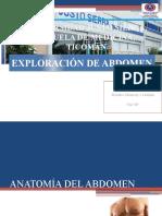 EXPLORACIÓN DE ABDOMEN