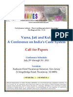 WAVES - Conference on Varna, Jati and Kula - 2011 - Call for papers.