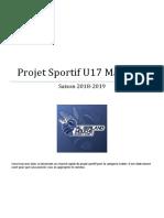 Résumé Projet Sportif U17