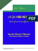 Speak Fluent Tibetan in 20 Days