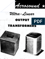 Acrosound Transformers 1955 Catalog