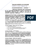 CONTRATO.PLANES DE MANTENIMIENTO PREVENTIVO DEL SISTEMA DE AGUA BECERRA CAIGUA HUACA COLORADA Y CHOCHOPE