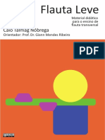 Flauta Leve - Material Didático Para o Ensino de Flauta Transversal