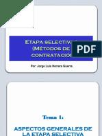 Etapa selectiva (procedimientos clásicos) 17.oct