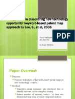 Resume on an Approach in Discovering New Technology Opportunity Keyword-based Patent Map Approach by Lee, S., Et Al, 2008