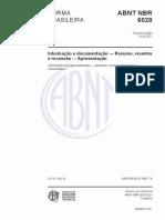 ABNT-NBR 6028 - Resumo, Resenha e Recensão