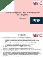 Cosméticos orgânicos - Prof Claudio Ribeiro