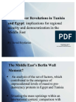 People Power Revolutions in Tunisia and Egypt- Implications for Regional Security and Democratization in the Middle East