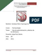 Farmacologia Administracion de Farmacos