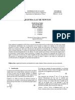 Informe Segunda Ley de Newton-nagles