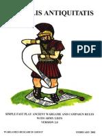 WRG - DBA De Bellis Antiquitatis Version 2