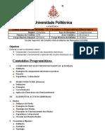 Plano Analitico de Circuitos e Disposetivos Electronicos