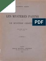 Loisy Alfred - Les Mystères Paiens Et Le Mystère Chrétien