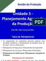 Unidade 5 - Planejamento Agregado da Produção