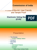 Electronic voting machines ( EVM )