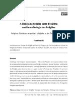 A ciência da Religião como disciplina auxiliar da Teologia das Religiões