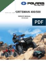 2005 Polaris Sportsman 400-500 Service Manual (NoPW