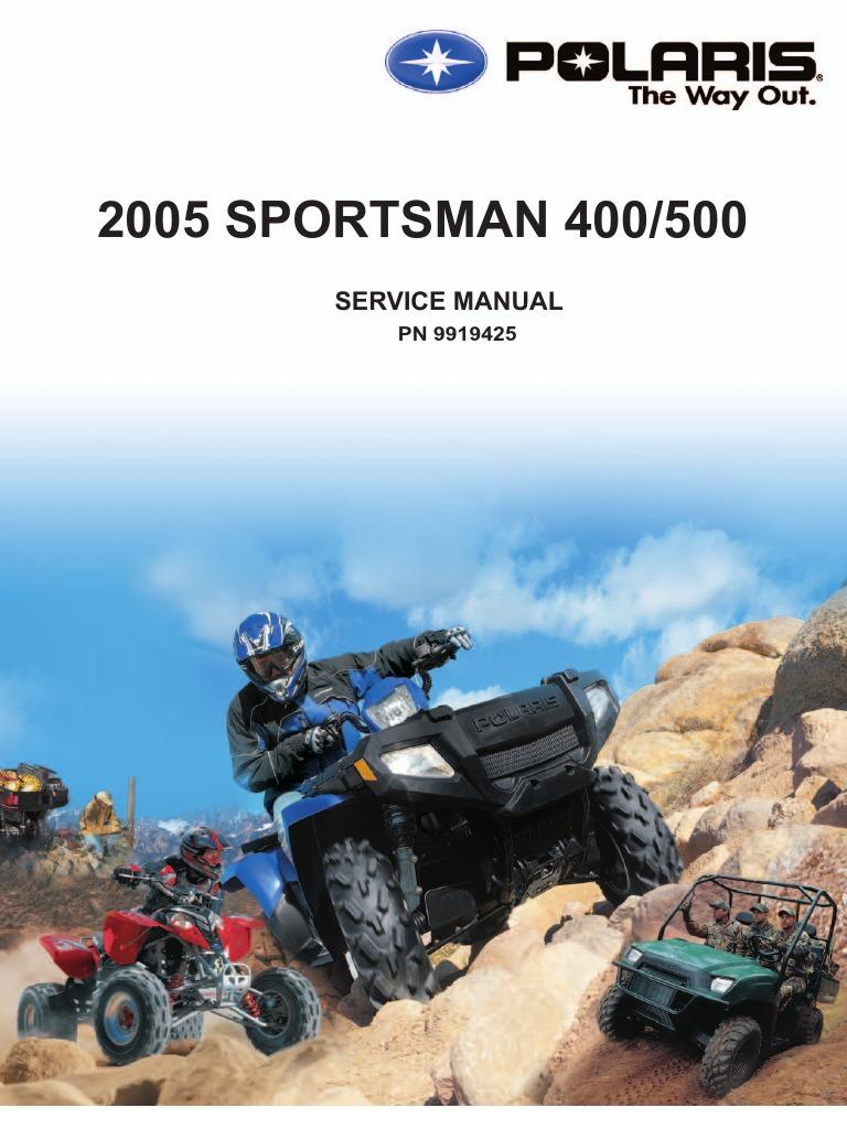 2005 Polaris Sportsman 400-500 Service Manual (NoPW) | Carburetor |  Suspension (Vehicle)