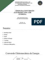 APRESENTAÇÃO PRINCIPIOS DA CONVERSÃO ELETROMECANICA DE ENERGIA