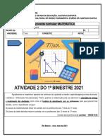 7ª ano - AP2 - MATEMÁTICA Leonésio - Nivelamento - Potencias - multiplos e divisores
