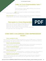 Curso Empreendedor Fotovoltaico