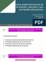 Clase 12. Estructura Anatomofuncional de La Emoción, Atención y Sus Principales Alteraciones