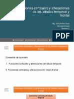 Clase 10. Funciones Corticales y Alteraciones de Los Lóbulos Temporal y Frontal (1)