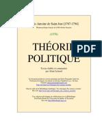 Saint Just Theorie Politique