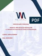 EF - Relatório de Impressão de Ordens de Manutenção