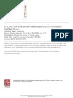Lindstrom, n. La Elaboracion de Un Discurso Contracultural en Las Aguafuertesporteñas de Arlt