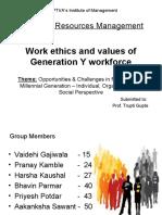 Work Ethics of generation Y