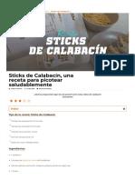 Sticks de Calabacín - ¡Mójalos en nuestra salsa de Ajo y Especias!