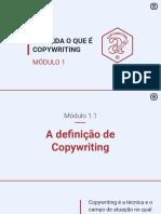 1.1 a Definição de Copywriting