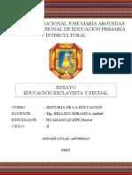 ENSAYO EDUCACION ESCLAVISTA Y FEUDAL_HECTOR HUAMANI QUISPE
