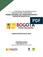 Premio Nacional de Literatura InfantilCiudad de Bogota 2011
