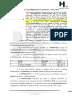 MODELO CONTRATO DE EMPREITADA DE SERVIÇOS
