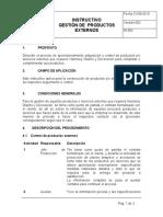 INSTRUCTIVO GESTION DE PRODUCTOS EXTERNOS