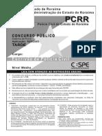 Cespe Cebraspe 2003 Pc Rr Escrivao de Policia Civil Prova