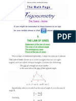 The law of sines, including the ambiguous case