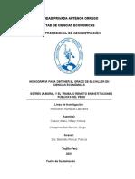 Chávez-Chuquimia-Estrés Laboral y El Trabajo Remoto en Instituciones Públicas Del Perú.
