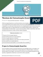 Técnicas de Comunicação Assertiva _ divulgação dinâmica